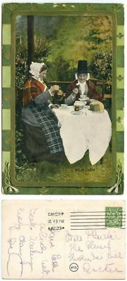 Great Britain 1924 Postcard Welsh Ladies, Cardiff Wales Cancel