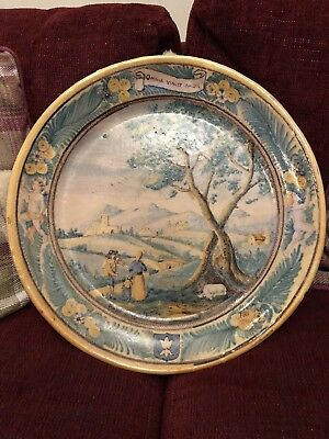 Large Italian Maiolica/ Maiolica Charger Late 18Th Century