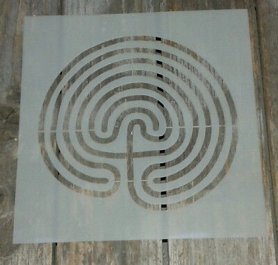 Tree labyrinth  mylar stencil ideal for spray paint decoration up cycling