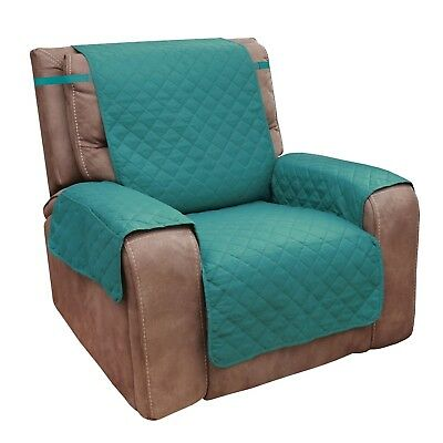 Home District Reversible Quilted Microfiber Recliner Chair Cover