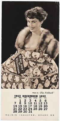 Salesman Sample Haloid Industro Photo by Glen Fishback Pinup Girl Christmas 1952
