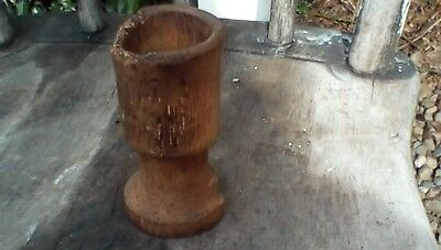 Early Primitive Small Treen Ware Wooden Cup Late 1700s Early 1800s