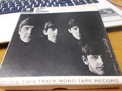THE BEATLES WITH THE BEATLES   MONO 3 3/4 IPS twin track mono reel to reel tape