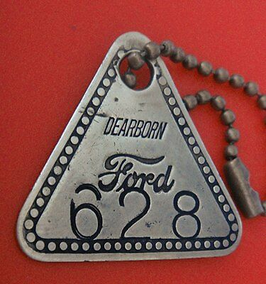 Automobile Factory Tool Check Brass Tag: FORD DEARBORN