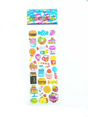2018 Food Hamburger Bubble Wall Stickers Lot Kids Favor Christmas Gift
