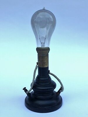 Rare Antique Light Bulb On Soket Signed Koelliker-Milano (Italy)