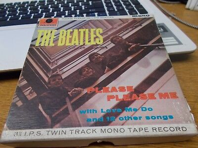 THE BEATLES  PLEASE PLEASE ME   MONO 3 3/4 IPS twin track mono reel to reel tape