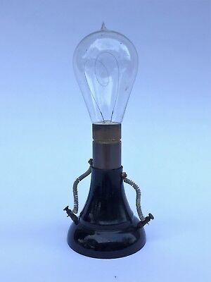 Rare Antique Light Bulb On Soket   (Italy)