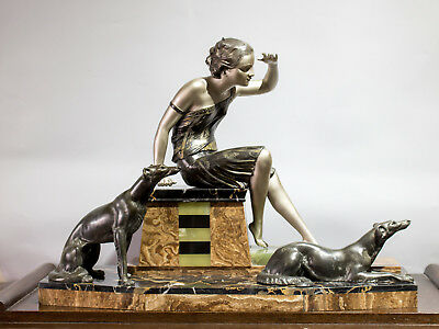 1920/1930  Art Deco Sculpture Statue Figure By Uriano, Signed