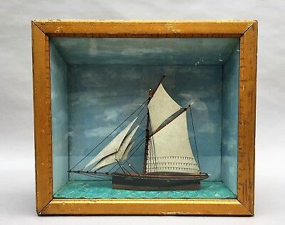 Antique Nautical Diorama LOLA  english Ship Model