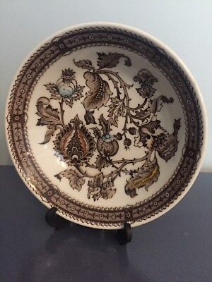 Vintage Ridgway Ironstone Staffordshire Brown Pattern Jacobean Small Sauce Bowl
