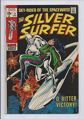 Silver Surfer #11 (Vol 1) : Fine 6.0 : Marvel Silver Age : Stan Lee : Cents Copy