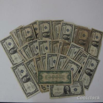 157 Pc Lot One Dollar $1 Silver Certificates Circulated Funny Back 5 * Notes S46