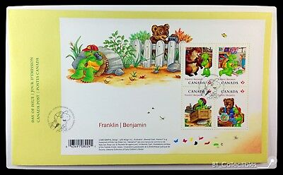 ◆OFDC◆ Canada Post 2012 Franklin the Turtle Souvenir Sheet (#2541)