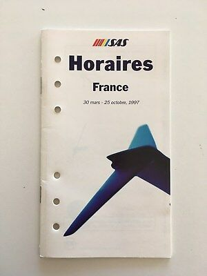 Guide Horaire Timetable SAS France 1997