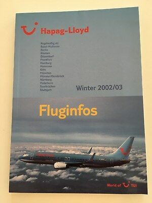 Guide Horaire Timetable Hapag Lloyd TUI 2002/2003