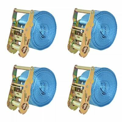 Sangle d'arrimage 4 pcs 2 tonnes 6 m x 38 mm Bleu I3W5