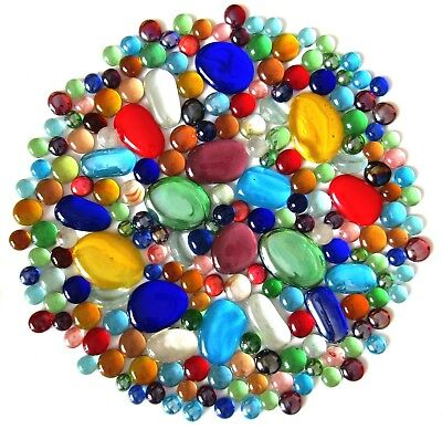 200 x Rainbow Colours Mosaic Lead Light Art Glass Stones - Mixed Shapes & Sizes
