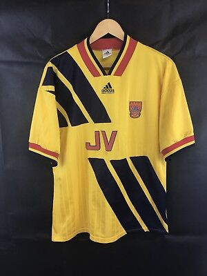 cc0cf9eaaf4 ARSENAL AWAY FOOTBALL Shirt 1993 94 Adults Large Adidas - £39.99 ...