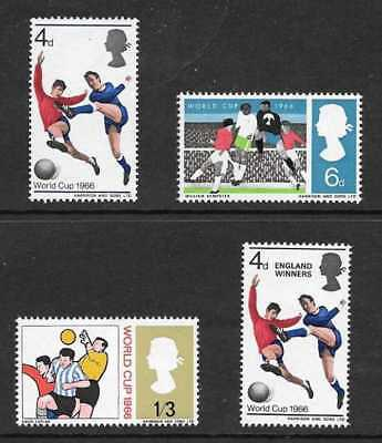 Gb 1966 World Cup Football Championship & World Cup Winners Stamp Set Ord Mnh