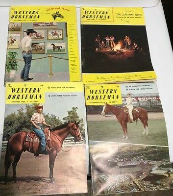 The Western Horseman Magazine Lot of 4 are 1957-1963-1956 -1958
