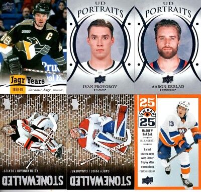 2018-19 Upper Deck Insert Pick em lot $1 eachflatship Jagr Portaits 25U25 Stonew
