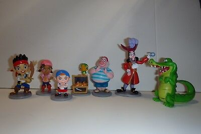 Disney Store Jake and The Neverland Pirates Figurine Playset Cake Topper Figures