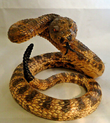Lifesize Faux Rattlesnake Figure Realistic Looking