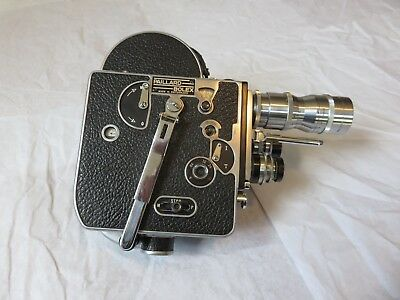 Vintage 1956 Bolex Paillard 16mm Movie Camera With 3 Lenses
