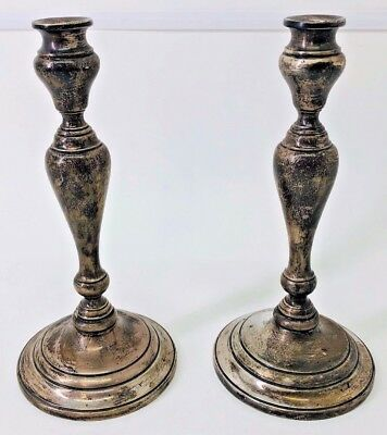 Sterling Silver Frank M. Whiting & Co. candle stick holders WEIGHTED (17395-1EJ)