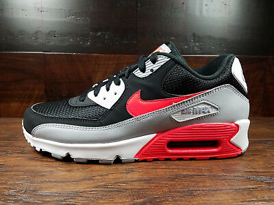 brand new a04a9 7f85a Nike Air Max 90 Essential (Wolf Grey   Bright Crimson)  AJ1285-012