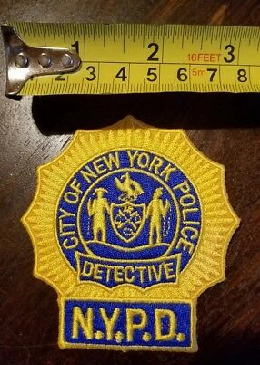 NYPD New York Detective Patch- NEW- AUTHENTIC- YOU GET 2 !