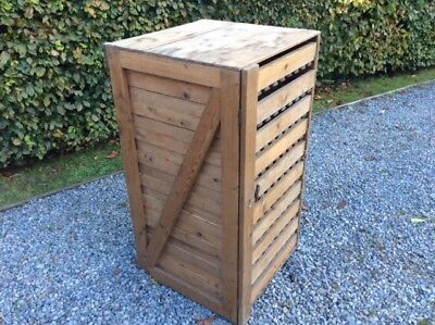 "Vintage 10 drawer Pine  French Apple Store Rack  47 "" 120 cm H 25"" 63 cm Sq"