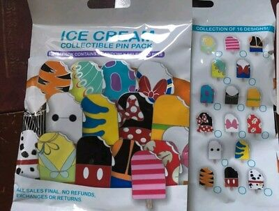 TWO, 2 Ice Cream Collectible pin pack Disney Mystery 2018 dsf ptd wdi d23
