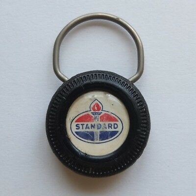 vintage STANDARD OIL tire-shaped key ring—Northbrook, IL garage c.1960—good cond