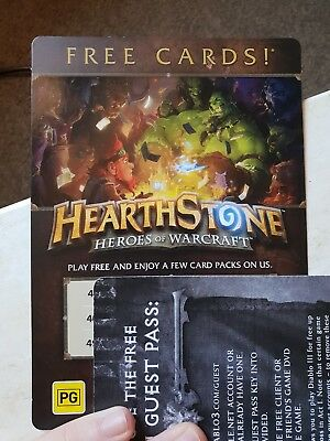 Hearthstone Heroes of Warcraft Free Cards x 3