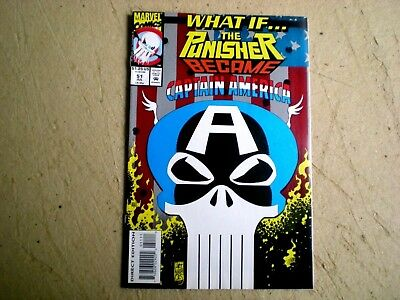 What if 51, (1993) Punisher Became Captain America, Marvel WX