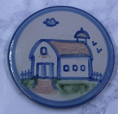 MA Hadley Pottery Country Barn Trivet 6-1/4 inch Hanging