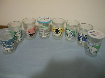 8 Vintage Welch's Looney Tunes Jelly Jars 1994 Warner Brothers