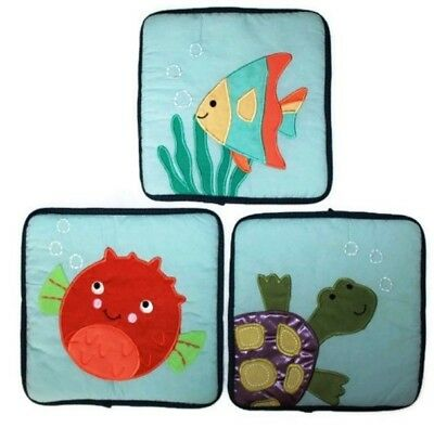 Nursery Decor Lamb & Ivy Bubbles & Squirt Set of 3 Soft Wall Hanging
