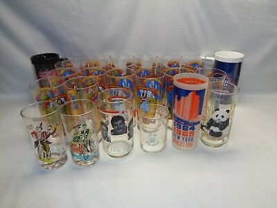Misc Vintage Collectible Glasses Wizard of Oz, Snap on, Busch Beer, etc. (1002)