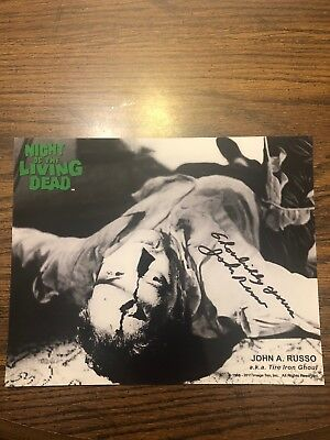 John Russo Night Of The Living Dead Hand Signed Autograph Photo