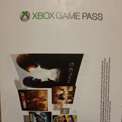 Xbox Game Pass 30 Day 1 Month Trial (Microsoft) *Brand New*