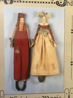 """Country Friends doll making pattern called """"Christmas Magic"""""""