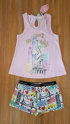 PETER ALEXANDER PJS Womens NYC SET Shorts & Top Size XS/S/M NWT PJ New York City