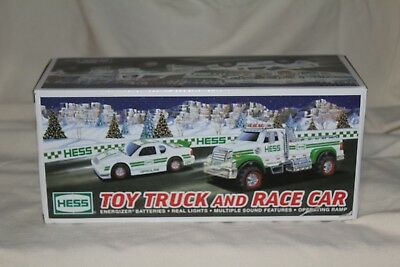NIB 2011 Hess Truck and Race Car Sound Features & Operating Ramp