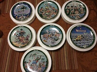 Danbury Mint Limited Edition NY Jets Decorative Plate Collection
