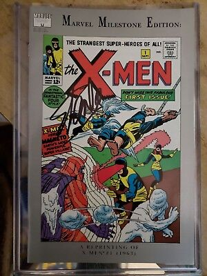 99 cent BS sale SS Stan Lee signed nm Marvel Milestone COA X-Men #1 comic