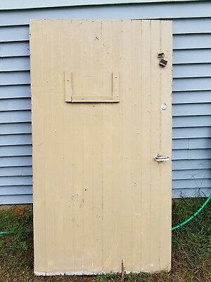 "Antique Salvage Distressed Farmhouse Barn Door 70"" Great Condition"