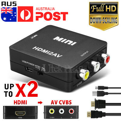 3RCA HDMI To AV Converter CVBS Video Cable HDMI2AV Converter 1080p Downscaling